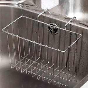 Sponge Holder, Sink Caddy Kitchen Brush Soap Dishwashing Liquid Drainer Rack - Stainless Steel