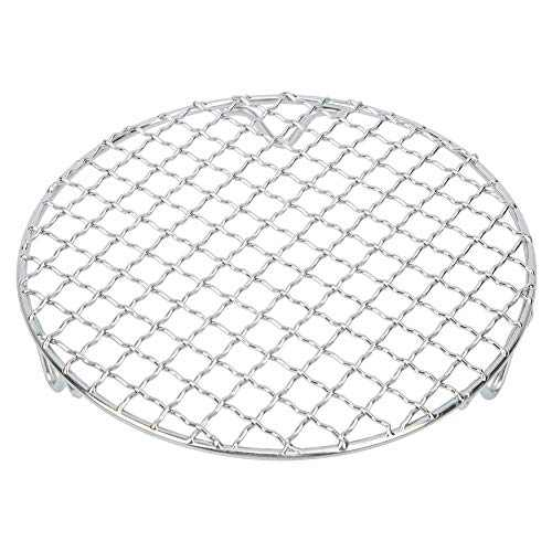 SOONHUA Multipurpose Stainless Steel Baking Wire 18cm Mesh Grill BBQ Net for Outdoor Camping Barbecue Barbecue Steaming Rack Fryer
