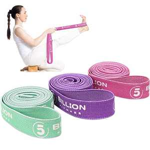 5BILLION Resistance Bands - Long Fitness Band - Pull Up Band Set -Training Band Support for Body Stretching Strength Training (Set of 3 (Pink + Purple + Green))