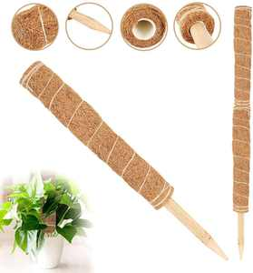 Beenle-Icey 45CM Coir Totem Pole Moss Stick Fibre Plant Climbing Pile Supports Stakes For Plant Extension Support Climbing Independent Blister Film Packaging