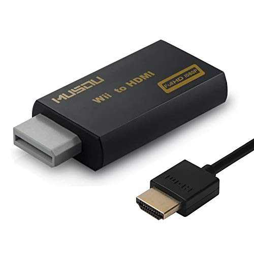 Wii to HDMI Converter,Hdiwousp Wii to HDMI Adapter 1080P or 720P Connector Video and 3.5mm Jack Audio Output with a HDMI Cable Supports All Wii Display Modes