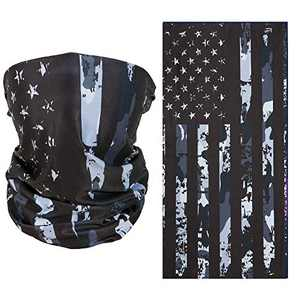 2 Pcs Sun Protection Cool Milk Silk Fabric Camouflage Flag Outdoor Face Mask,UV Dust Wind Protection Face Neck Gaiter Headwear for Motorcycle Hiking Cycling Ski Snowboard Fishing Workout