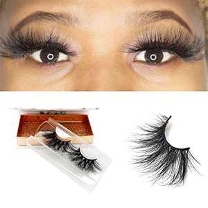 KallyHair 25mm Real Mink Lashes 100% Siberian 3D Mink EyeLashes Dramatic Long Type Handmade Strips Reusable Real Thick Full Strip Lashes…