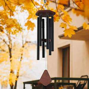 Wind Chimes Outdoor Large Deep Tone, 36 Inches Sympathy Wind Chimes Outdoor Memorial Wind Chimes for Mom/Housewarming/Christmas, Black Wind Chime for Outside Garden, Patio, Home Decor