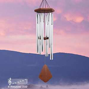 Wind Chimes Outdoor Deep Tone, 36 Inches Large Wind Chimes Outdoor Memorial Wind Chimes for Mom/Housewarming/Christmas, Wind Chimes for Outside Garden, Patio, Home Décor. Silver
