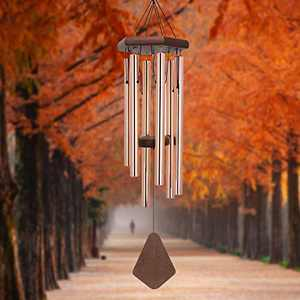 Wind Chimes Outdoor Deep Tone, 36 Inches Memorial Wind Chimes Sympathy Outdoor Wind Chimes for Mom/Housewarming/Christmas, Wind Chimes for Outside Garden, Patio, Home Décor. Rose-Gold.