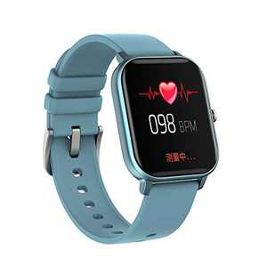 P8 Smart Watch with Heart Rate Sleep Monitor Bluetooth Music Control All-Day Activity Step Counter Smart Bracelet Compatible with Android iOS Phones for Women Men (Blue)