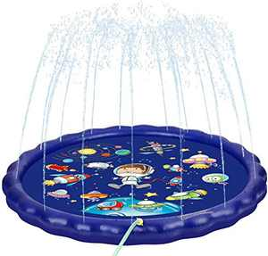 """CONNYAM Splash Pad for Kids, 68"""" Sprinkler Pool Play Mat Wading Pool, Water-Filled Inflatable Water Sprinkler Toys Outdoor Swimming Pool for Babies and Toddlers"""