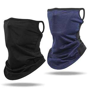 Cooling Neck Gaiters Breathable Face Scarf Bandana Half Balaclava with Ear Loops for Outdoor Sun Cycling Fishing Hiking Running Sports