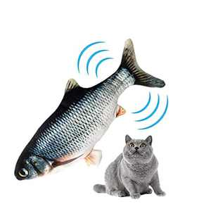 Aqueous Flopping Fish Cat Toy Catnip Toys for Cats Plush Interactive Cat Toys Realistic Simulation Electric Fish for Cats Wagging Fish Cat Kicker Toys for Chewing
