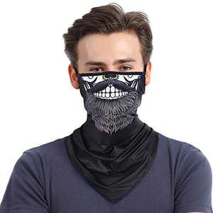 Face Bandana Mask Neck Gaiter Cooling Face Scarf for Women/Men Washable Mask with Adjustable Ear Loops Dust Wind UV Sun Protection(Color-2)
