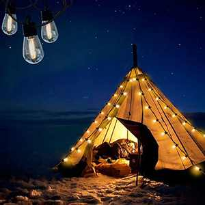 Bondfree String Lights Outdoor indoor-27ft Shatterproof Waterproof IP65 LED Bulbs,USB Extension Cable, Create Bistro Ambience On Patio Tents Backyard Cafe Umbrella Wedding
