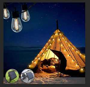 Bondfree Solar String Lights outdoor-27ft Shatterproof Waterproof IP65 LED Bulbs,USB Extension Cable & Remote Control,Energy Saving Decor Create Bistro Ambience On Patio Tents Backyard Cafe Umbrella