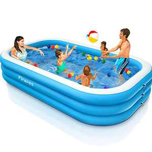 """Firares Family Inflatable Swimming Pool 120""""x72""""x22"""" Upgrade 0.4mm PVC Thickened Inflatable Kiddie Swimming Pool Easy Set Lounge Pool for Kids,Toddlers,Adults for Backyard,Outdoor Party…"""