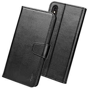 Migeec iPhone XR Case - PU Leather Wallet Case [RFID Blocking] Flip Cover with Credit Card Holder and Pocket for iPhone XR, Black …