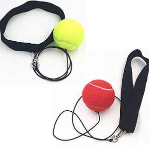 FANGXUEPING Fight Ball Reflex, Headband Training Speed Reaction Head Band, Punching Focus Reflexes Trainer Practice Punch Fitness Gym, Fight Skill and Hand Eye Coordination Training