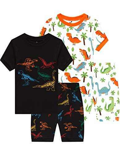 Boys Dinosaurs Pajamas Children Cotton Pjs Toddler Kids Pyjamas 4 Pieces Sleepwear 4t