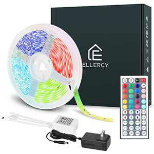 Ellercy Led Strip Lights 16.4ft,5050 RGB Light Strips Kit with Keys Remote