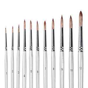 INK LAB Artist Watercolor Brushes 11 PCS Round Detail Paint Brushes Set for Watercolors Acrylics Inks Gouache Oil and Tempera Painting