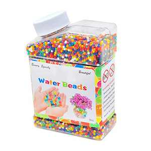 Water Beads, 30000 Soft Water Beads Rainbow Mix Growing Balls, Non-Toxic Water Sensory Toy Jelly Water Gel Beads for Children Home Decoration - for Early Skill Development