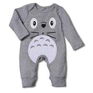 DREAM BUS Newborn Baby Girl Boy Clothes Button Solid Romper Infant Bodysuit Jumpsuit Outfits Grey