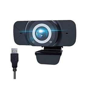 1080P Webcam, ZHIKE Full HD Plug & Play USB Web Camera with Bulit-in Microphone for pc Desktop & Laptop Live Streaming Webcam, Wide View Angle Web Camera for Video Calling Recording Conferencing