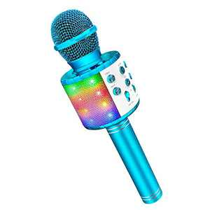 Microphone for Kids Singing, Gifts Toys for 4-12 Year Old Girls Boys Magic Microphone Karaoke Microphone and Speaker for Kids Boys Blue