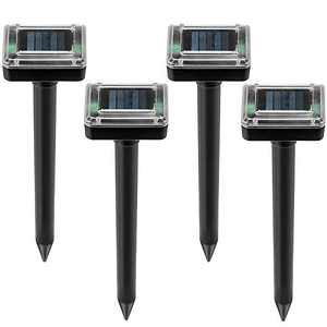 ZGWJ 4 Pack Solar Powerd Spike for Outdoor Lawn and Garden