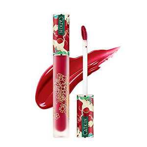 CATKIN Liquid Lipstick Lip Gloss Lightness Pretty Semimatte Waterproof Long Lasting Satin Nourish Moisturizing Smooth Soft (C06)