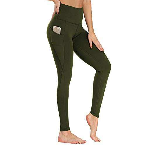 ZOOSIXX High Waist Yoga Pants - Workout Leggings with Pockets for Women Tummy Control 4 Way Stretch Running Tights