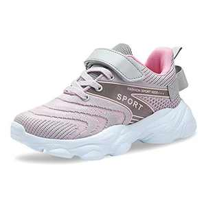Forucreate Boys Girls Shoes for Kids Tennis Running Walking Athletic Sport Lightweight Fashion Sneakers (Pink 34)