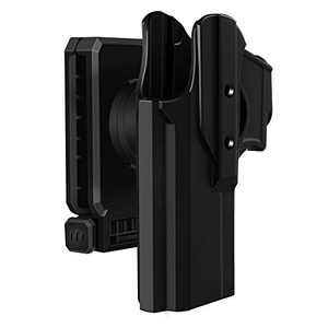 HQDA G-Lock 17 19 Holster G-Lock 17 19 19X 22 23 31 32 45 (Gen 1 2 3 4 5),Polymer Tactical Outside Waistband Carry Polymer OWB Holster with Adjustable Paddle