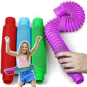 BunMo XL Pop Tubes Sensory Toys for Autistic Children and Fidgets for Kids, ADHD Toys for Kids and Autism Toys for Boys and Girls