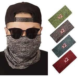 softan Sun UV Protection Neck Gaiter Balaclava Bandana Headwear, Ice Silk Cooling Sports Face Scarf for Dust Outdoors(8 pcs)