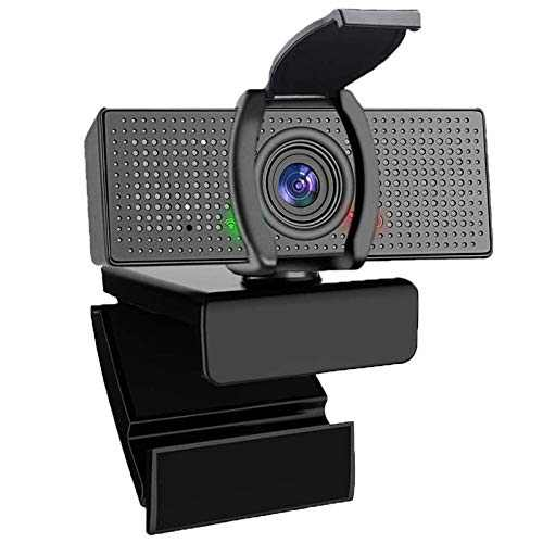 USB Web Computer Camera with Privacy Cover, HD 1080p Widescreen for Computers and Laptop, Plug and Play, for Video Calling and Recording with USB Camera Webcam