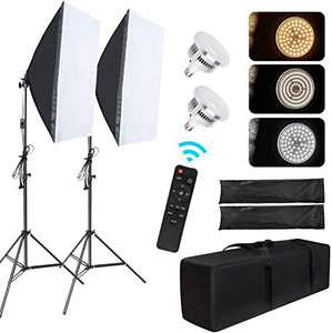 """Led Softbox Lighting Kit 20""""X28"""" LTRINGYS Bi-Color Photo Studio Equipment for Photography with 78inch Stand,Continuous Lighting Kit with 3200K-6500K LED Bulb for YouTube Video (2 Pack) US Plug"""