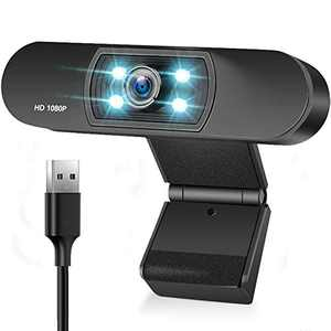 Webcam with Microphone 1080P HD USB Computer Web Camera Widescreen Streaming Camera Pro Video Web Cam for PC Desktop Laptop Calling Conferencing Gaming