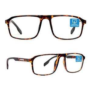 Blue Light Blocking Computer Glasses 1 Pack with Spring Hinge, Computer Reading/Gaming/TV/Phones Glasses for Women Men,Anti Eyestrain & UV Glare