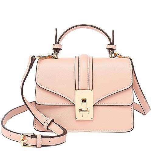 Scarleton Mini Top Handle Satchel Handbag for Women, Purses for Women, Vegan Leather, Crossbody Bag for Women, Shoulder Purse, H207705 - Pink