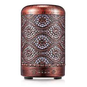 Aromatherapy Humidifier with Essential Oil - Soothing Metal Humidifiers with Essential Oils, Cool Mist Humidifiers with Essential Oils, Aromatherapy Diffuser Humidifier for Bedroom