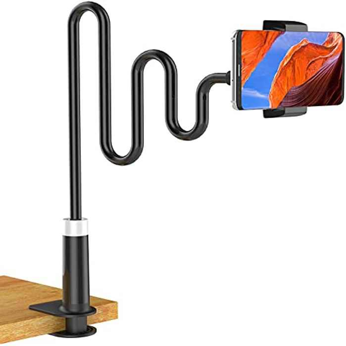 Soft digits Phone Holder, Gooseneck Mobile Phone Stand, Universal Clip Lazy Flexible Holder Long Arms Mount Stand for iPhone 12 mini 12 pro max 11 Pro Xs Max XR X 8 7 Plus, Samsung S10 S9, HUAWEI