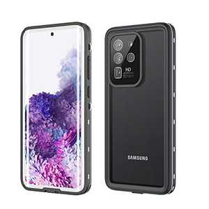 Fansteck Galaxy S20 Ultra Waterproof Case, S20 Ultra Case Waterproof Shockproof Dirtproof Snowproof Full Body Protection with Built-in Screen Protector Case S20 Ultra Waterproof 6.9 Inch 5G (White)
