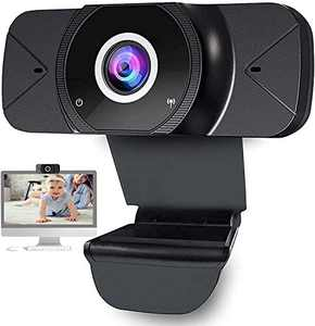 Webcam with Microphone, 1080P Full HD Web Camera, USB PC Computer Webcam, Laptop Desktop Cam 90 Degree View Angle Widescreen Auto Focus Pro Streaming Webcam for Video Calling Conference