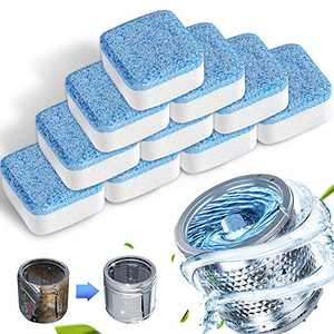 10 Counts Washer Machine Cleaner Tablets,Solid Washing Machine Cleaner with Triple Decontamination Remover,for Front Load and Top Load Washers