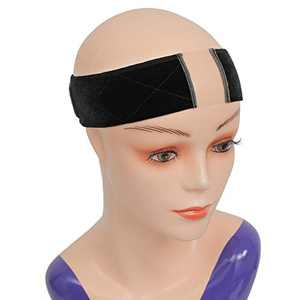 ATRAENTE Wig Grip Wig Band,Adjustable Wig Band for Lace Front Wigs,Wig Bands No Slip,Velvet Wig Grip Headbands for Women,Lace Black Wig Grip Cap for Lace Wigs with Free Wig Cap