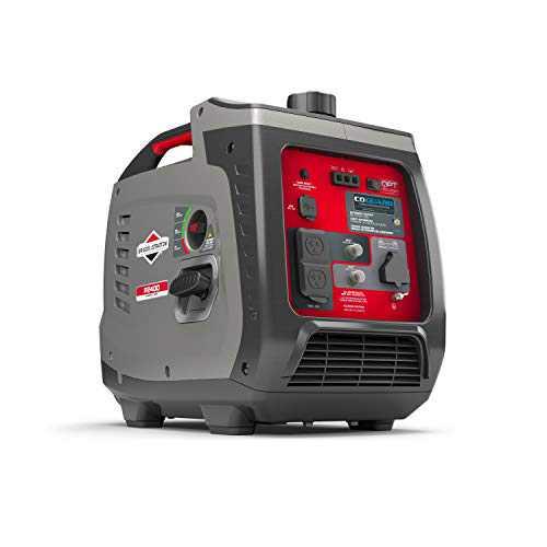 Briggs & Stratton P2400 PowerSmart Series Inverter Generator with Quiet Power Technology and CO Guard, 2400 Starting Watts 1800 Running Watts