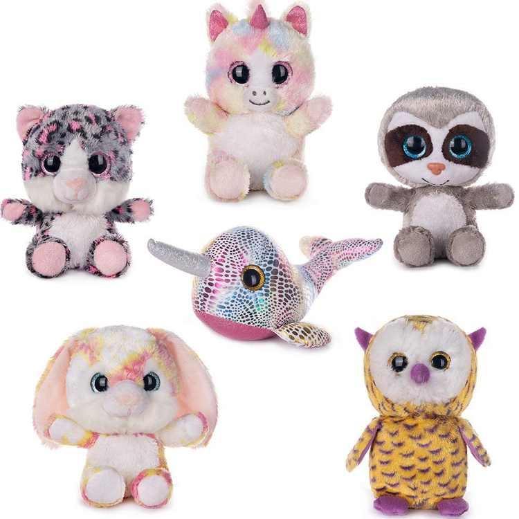 "My OLi 7"" Plush Toys Set Stuffed Animals Bundle of Fairy Tale Animal Toys Unicorn/Narwhal/ Rabbit/Owl/Sloth/Cat Stuffed Animals Pack of 6 for Babies Kids Girls Boys"