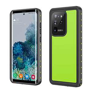 Fansteck Case S20 Ultra Waterproof, Galaxy S20 Ultra Waterproof Case Shockproof Dirtproof Snowproof IP 68 Full Body Protection with Kickstand for Samsung Galaxy S20 Ultra 6.9 Inch 5G (Black/Green)