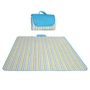 Siteer Outdoor Picnic Blanket Waterproof Portable Beach Mat for Camping Hiking Festivals(Multicolor)
