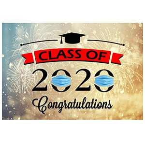 """Graduation Banner for Class of 2020 - Graduation Party Supplies - Large Congrats Grad Banner Large Backdrop 39.4"""" x 70.9"""" In"""